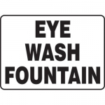 "Accuform MFSD588XT10, 10″ x 14″ Safety Sign ""Eye Wash Fountain"""
