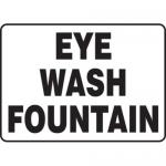"""Accuform MFSD588XT10, 10″ x 14″ Safety Sign """"Eye Wash Fountain"""""""