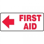 "Accuform MFSD589XT10, 7″ x 17″ Safety Sign ""First Aid"" Dura-Plastic"