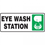"Accuform MFSD590XT10, 7″ x 17″ Safety Sign ""Eye Wash Station"""