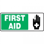 "Accuform MFSD591XT10, 7″ x 17″ First Aid Sign ""First Aid"""