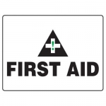 "Accuform MFSD596XT10, 18″ x 24″ Safety Sign ""First Aid"""