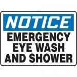 """Accuform MFSD803XT10, 10″ x 14″ Safety Sign """"Emergency Eye Wash …"""""""