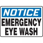 "Accuform MFSD805XT10, 10″ x 14″ Safety Sign ""Emergency Eye Wash"""