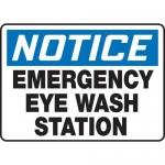 """Accuform MFSD815XV10, 10″ x 14″ Safety Sign """"Emergency Eye …"""""""