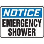 "Accuform MFSD817XT10, 10″ x 14″ Safety Sign ""Emergency Shower"""