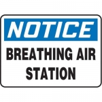 "Accuform MFSD819XT10, 7″ x 10″ Safety Sign ""Breathing Air Station"""