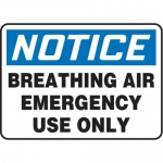 """Accuform MFSD820XT10, 10″ x 14″ Safety Sign """"Breathing Air …"""""""