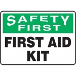 "Accuform MFSD900XT10, 7″ x 10″ OSHA Safety Sign ""First Aid Kit"""