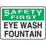 """Accuform MFSD904XT10, 10″ x 14″ Safety Sign """"Eye Wash Fountain"""""""