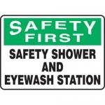 "Accuform MFSD910XV10, 10″ x 14″ Safety Sign ""Safety Shower …"""