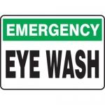 """Accuform MFSD917XT10, 7″ x 10″ Safety Sign """"Eye Wash"""" Dura-Plastic"""