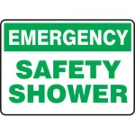 "Accuform MFSD919XT10, 10″ x 14″ Emergency Safety Sign ""Safety Shower"""
