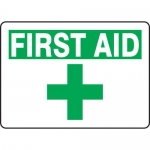 "Accuform MFSD923XT10, 7″ x 10″ First Aid Sign ""First Aid"""