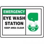 """Accuform MFSD928XV10, 7″ x 10″ Safety Sign """"Eye Wash Station …"""""""