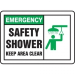 "Accuform MFSD929XT10, 10″ x 14″ Safety Sign ""Safety Shower …"""