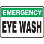 """Accuform MFSD936XT10, 14″ x 20″ Emergency Safety Sign """"Eye Wash"""""""