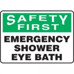 "Accuform MFSD941XT10, 7″ x 10″ First Aid Sign ""Emergency Shower …"""