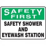 "Accuform MFSD947XV10, 7″ x 10″ Safety Sign ""Safety Shower …"""