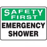 "Accuform MFSD956XT10, 10″ x 14″ Safety Sign ""Emergency Shower"""
