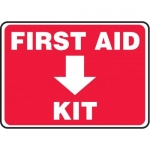 "Accuform MFSD958XT10, 10″ x 14″ Safety Sign ""First Aid Kit"""