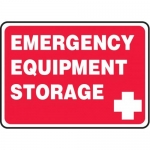 "Accuform MFSD967VP10, 10″ x 14″ Safety Sign ""Emergency Equipment …"""