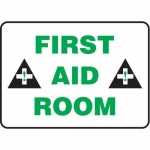 "Accuform MFSD971XT10, 10″ x 14″ Safety Sign ""First Aid Room"""