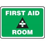 "Accuform MFSD974XT10, 10″ x 14″ Safety Sign ""First Aid Room"""