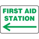 """Accuform MFSD979XV10, 10″ x 14″ Safety Sign """"First Aid Station"""""""