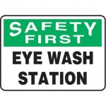 "Accuform MFSD982XT10, 10″ x 14″ Safety Sign ""Eye Wash Station"""