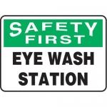 """Accuform MFSD982XV10, 10″ x 14″ Safety Sign """"Eye Wash Station"""""""