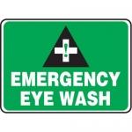 """Accuform MFSD983XT10, 7″ x 10″ Safety Sign """"Emergency Eye Wash"""""""
