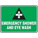 "Accuform MFSD986XT10, 10″ x 14″ Safety Sign ""Emergency Shower …"""