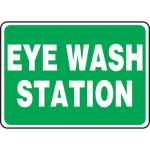"Accuform MFSD987XT10, 7″ x 10″ Safety Sign ""Eye Wash Station"""