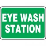 """Accuform MFSD988XT10, 10″ x 14″ Safety Sign """"Eye Wash Station"""""""
