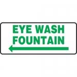 """Accuform MFSD990XT10, 7″ x 17″ Safety Sign """"Eye Wash Fountain"""""""