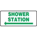 "Accuform MFSD991XT10, 7″ x 17″ Safety Sign ""Shower Station"""