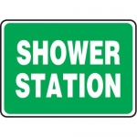 "Accuform MFSD993XT10, 10″ x 14″ Safety Sign ""Shower Station"""