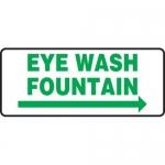 """Accuform MFSD994XT10, 7″ x 17″ Safety Sign """"Eye Wash Fountain"""""""