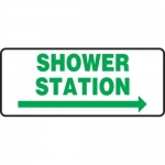 "Accuform MFSD995XT10, 7″ x 17″ Safety Sign ""Shower Station"""