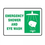 "Accuform MFSR528XT10, 7″ x 10″ Safety Sign ""Emergency Shower …"""