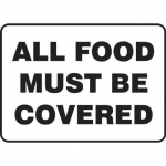 """Accuform MFSY507XT10, 10″ x 14″ Safety Sign """"All Food Must Be Covered"""""""