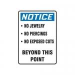 "Accuform MFSY508XV10, 10″ x 7″ OSHA Notice Safety Sign ""No …"""