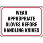 """Accuform MFSY517XP10, 7″ x 10″ Safety Sign """"Wear Appropriate …"""""""