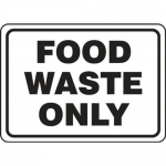 """Accuform MFSY521VA10, 7″ x 10″ Food Safety Sign """"Food Waste Only"""""""