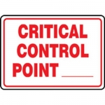 """Accuform MFSY522VA10, 7″ x 10″ Safety Sign """"Critical Control Point __"""""""