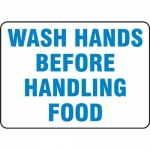 "Accuform MFSY533XT10, 7″ x 10″ Safety Sign ""Wash Hands Before …"""