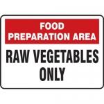"Accuform MFSY534VA10, 10″ x 14″ Safety Sign ""Food Preparation …"""