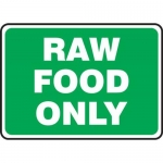 """Accuform MFSY538VA10, 7″ x 10″ Food Safety Sign """"Raw Food Only"""""""