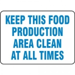 """Accuform MFSY539VA10, 10″ x 14″ Safety Sign """"Keep This Food …"""""""